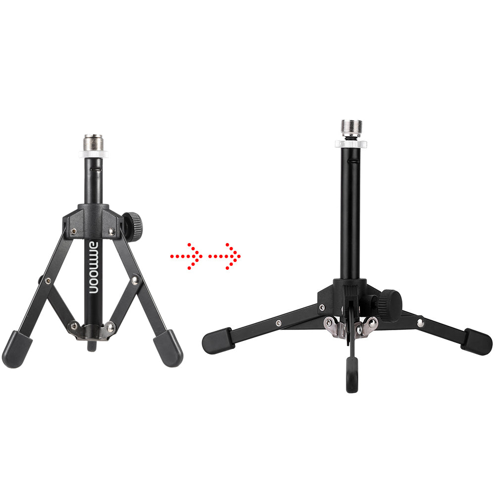 Mini Fold-able Desktop Tabletop Tripod Mic Stand Holder-99Accessory-99Accessory