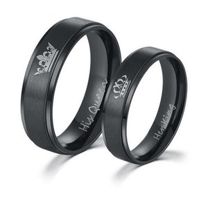 Her King and His Queen Stainless Steel Rings, unisex-99Accessory-99Accessory