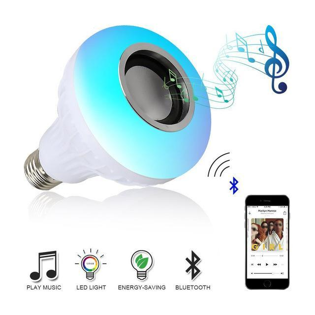 Bluetooth Speaker RGB LED Lamp 110V 220V Smart Light with Remote Control-99Accessory-99Accessory