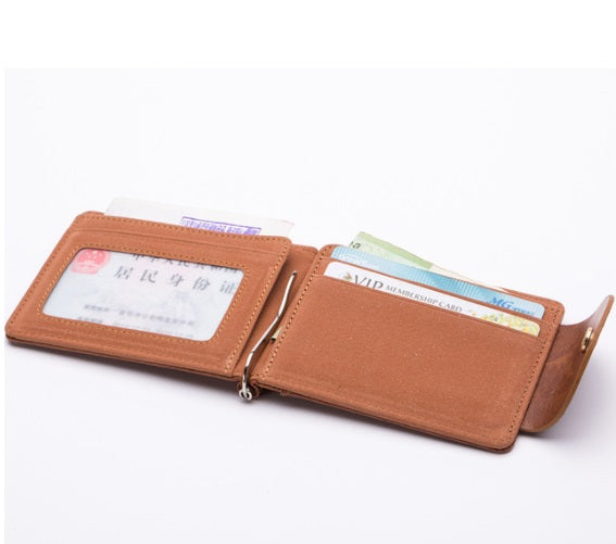 Korean clip leather men's wallets