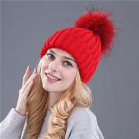 furr ball Cap, winter beanies for women