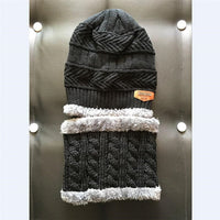 Knitted scarf cap, neck warmer beanies