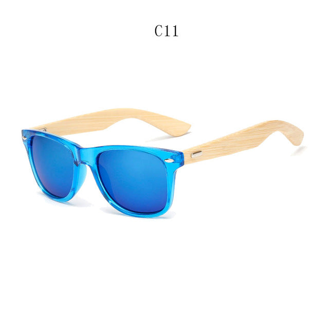 Retro Wood Sunglasses, Unisex