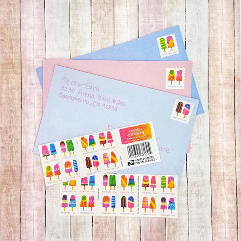 Cute Popsicle Postage Stamps