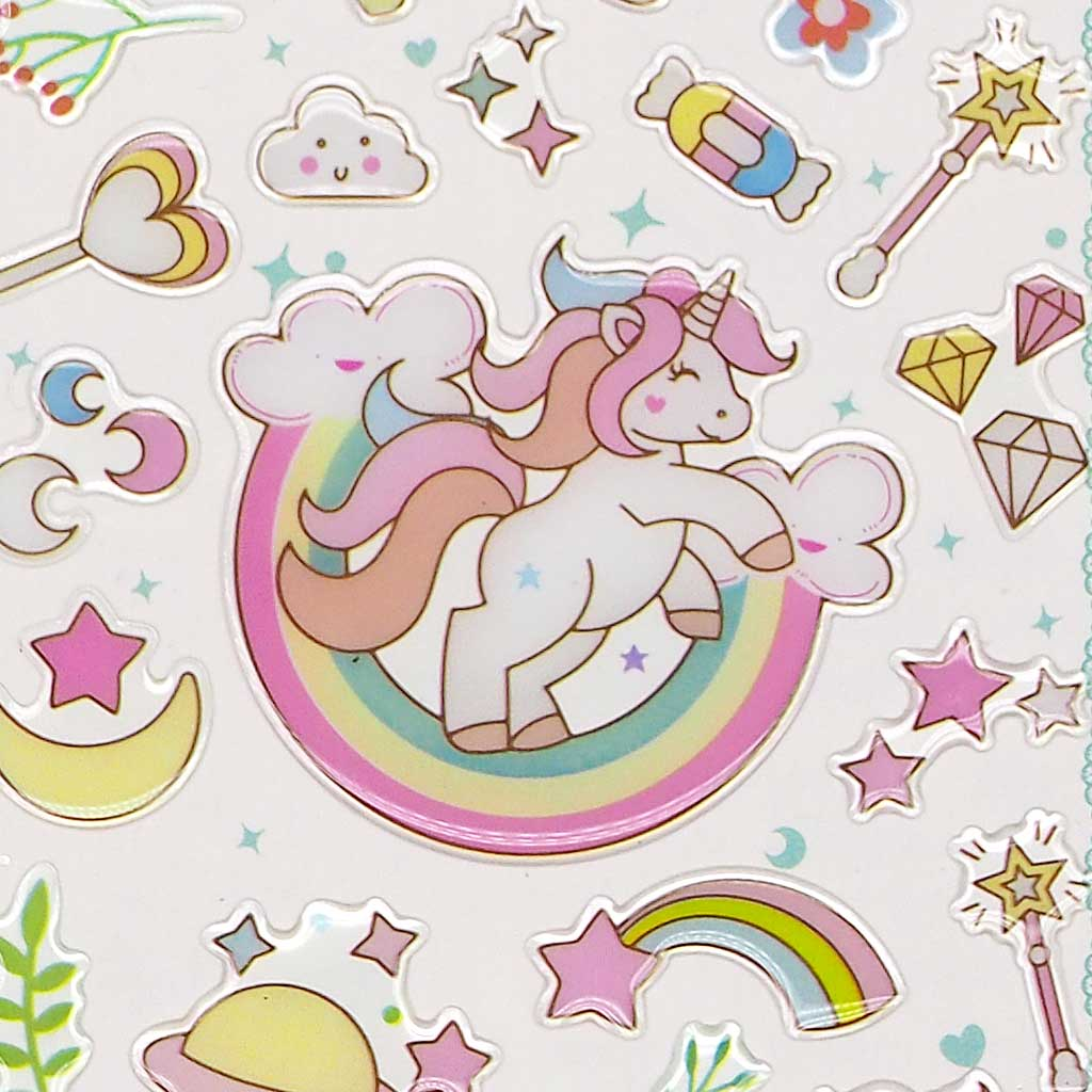 Unicorn Crystal Stickers - Green