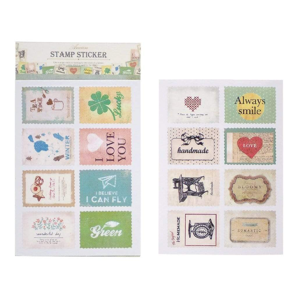 Retro Stickers | Assorted Stamp