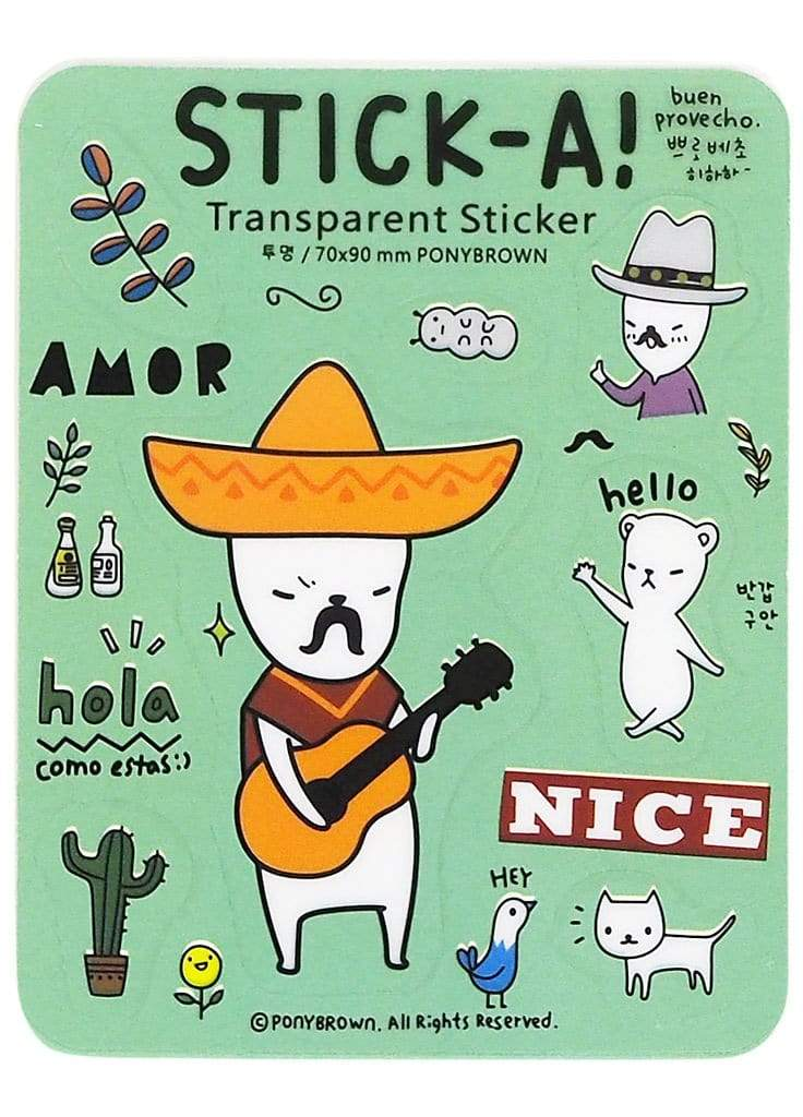 Buha Bear Stickers - Hola