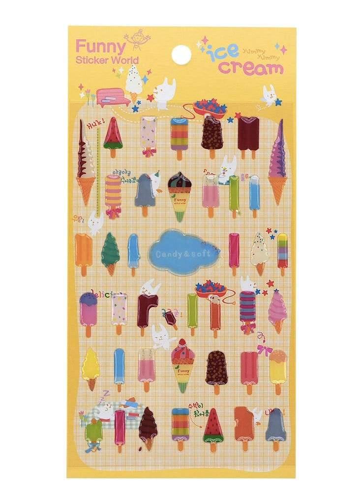 Popsicle Crystal Stickers