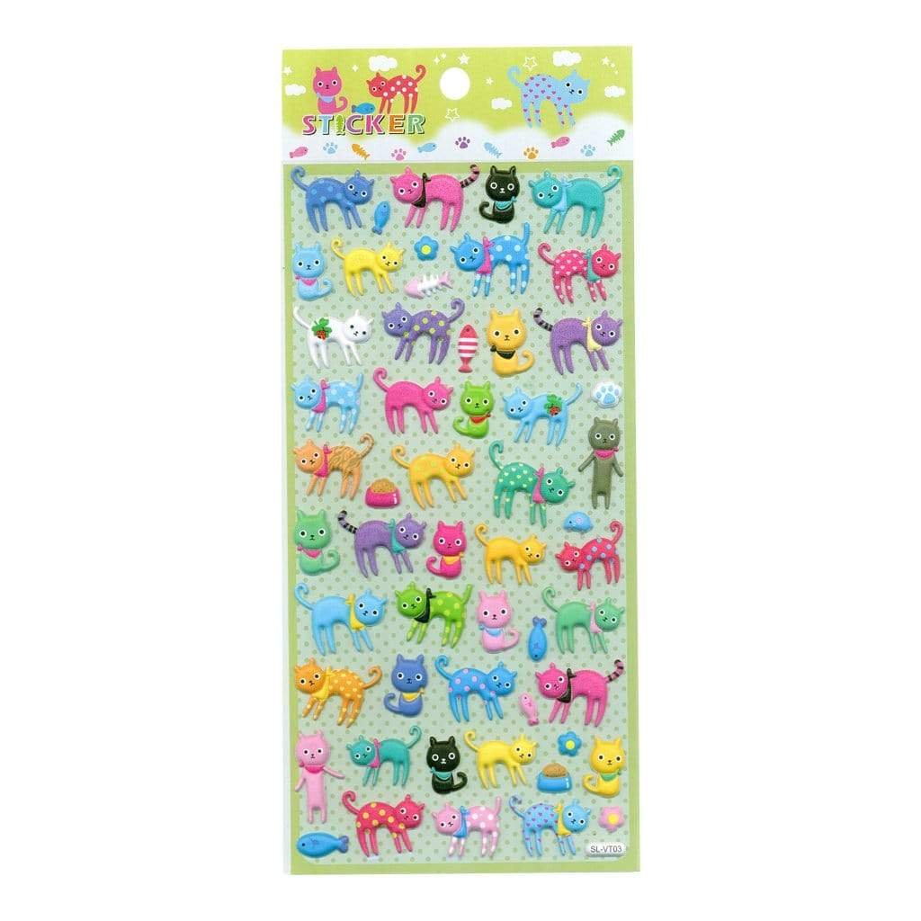 kawaii cat stickers sheet