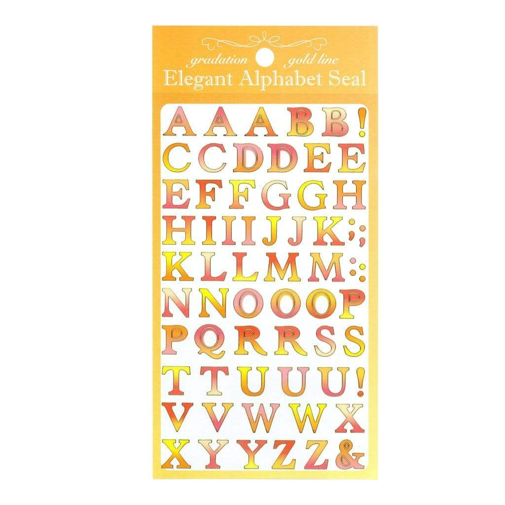 red letter stickers sheet