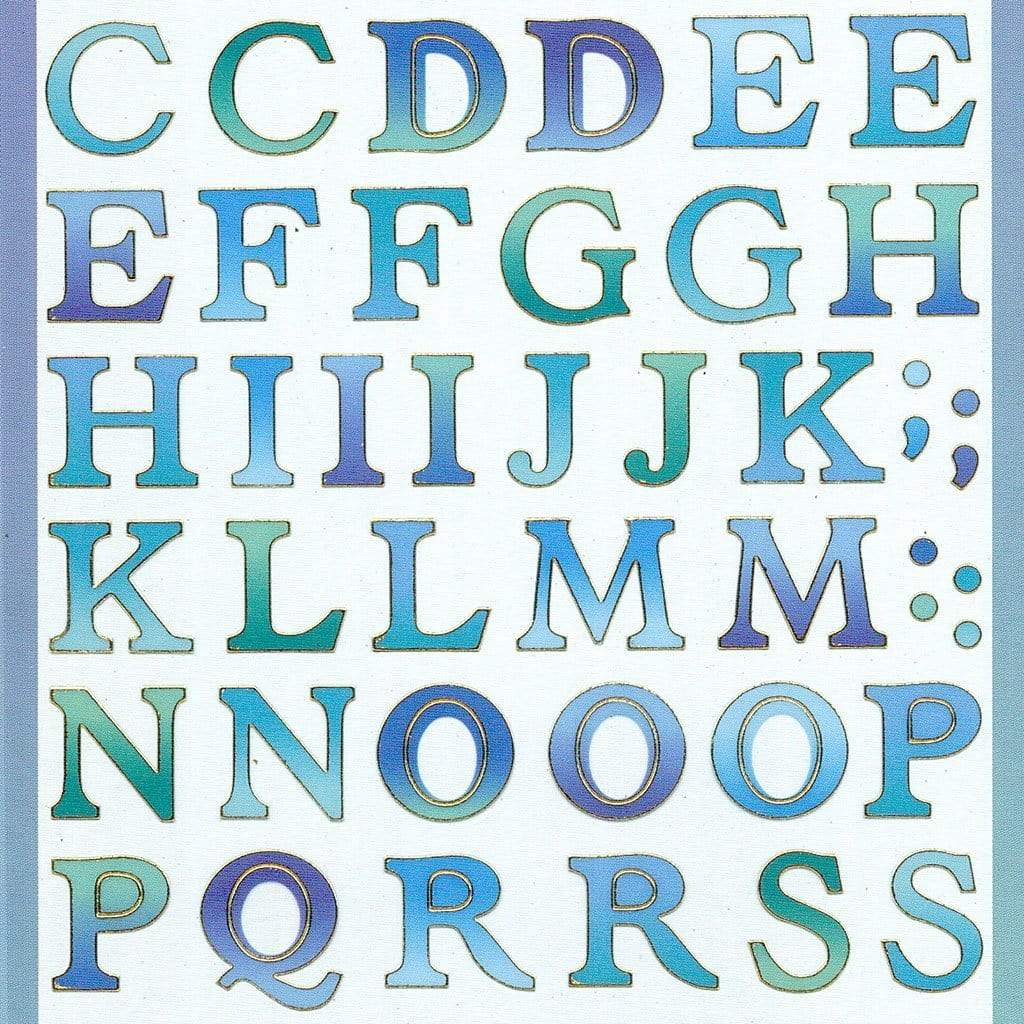 Alphabet Stickers - Tropical Sea