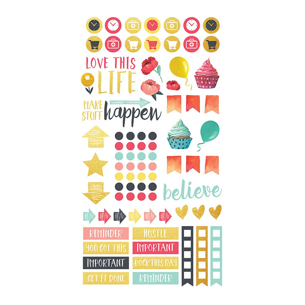 Family Schedule Planner Stickers Sheet 2