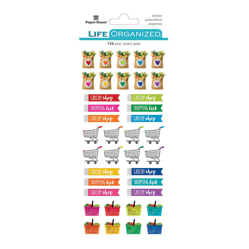 Grocery Planner Functional Sticker Pack