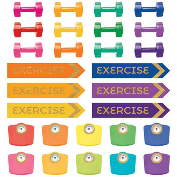 Fitness Planner Functional Stickers Detail