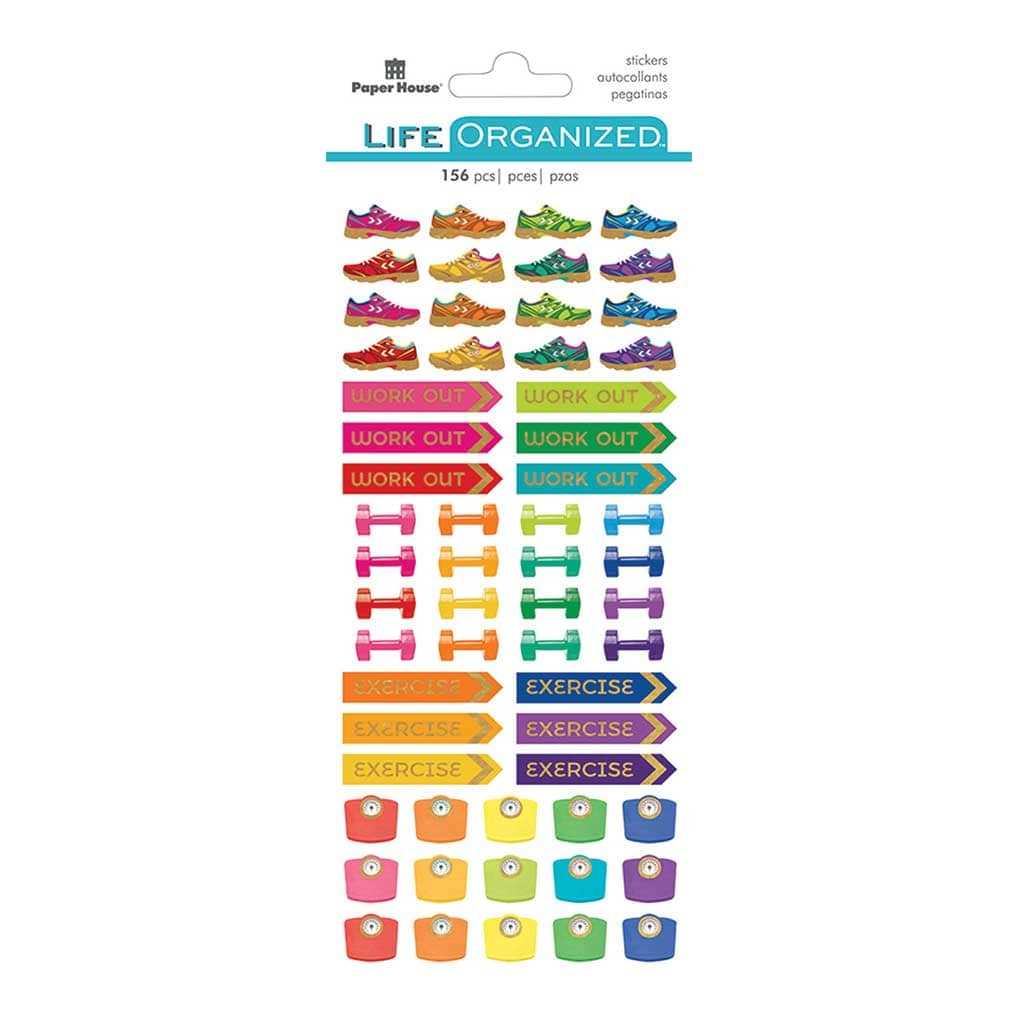 Fitness Planner Functional Sticker Pack