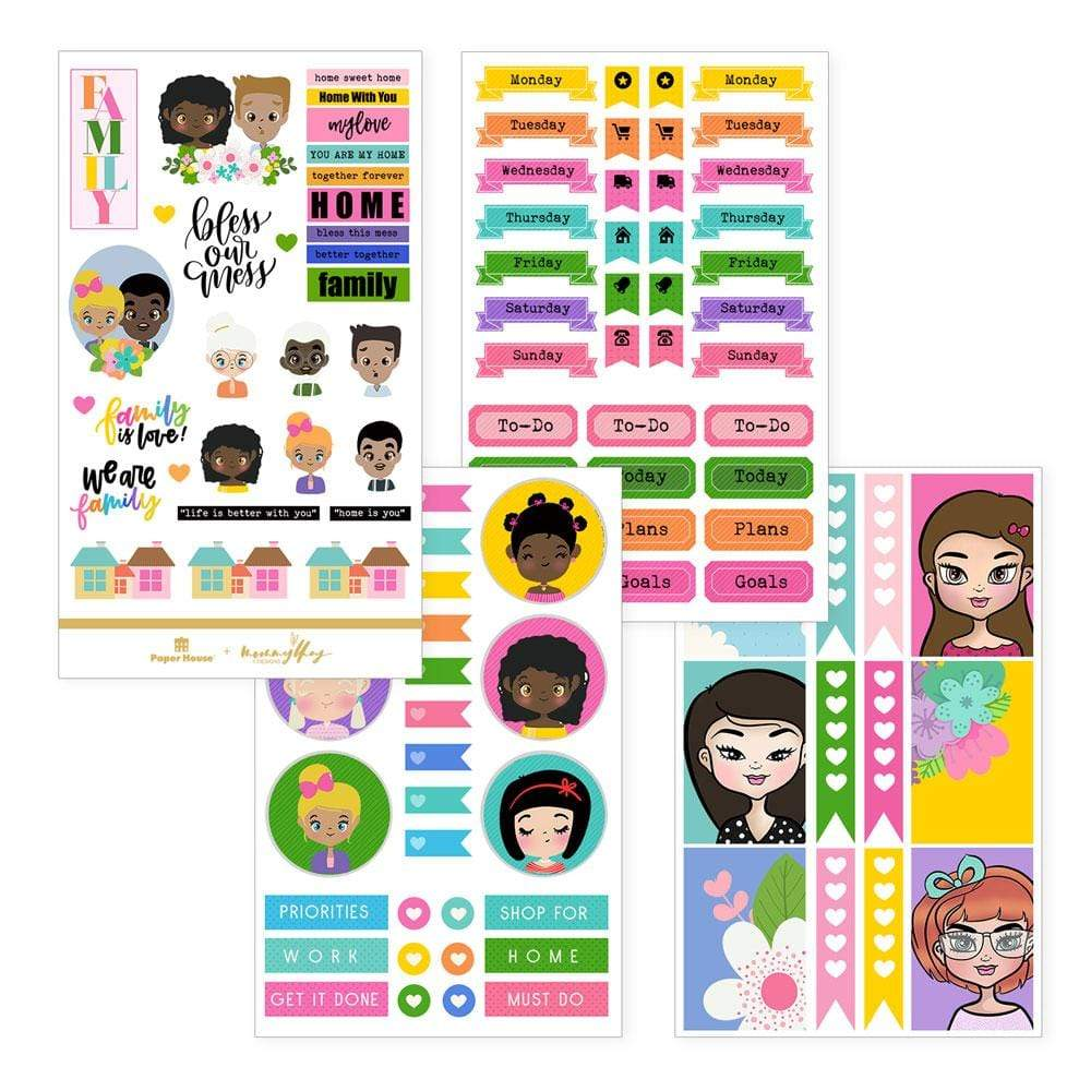 Family planner stickers
