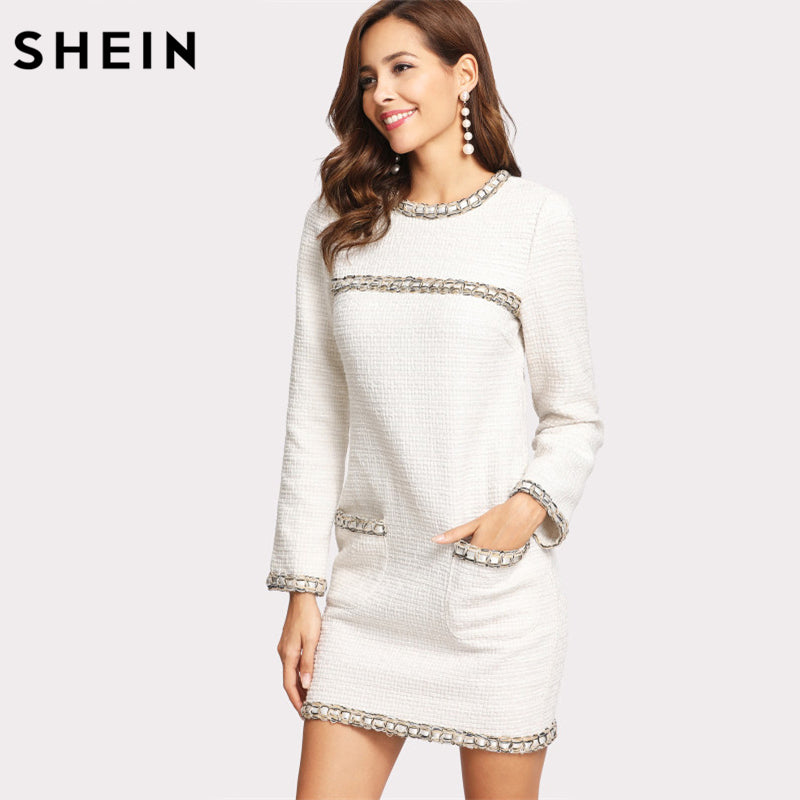 0f001dad58 white-bodycon-casual-long-sleeve-short-summer-dress- ...