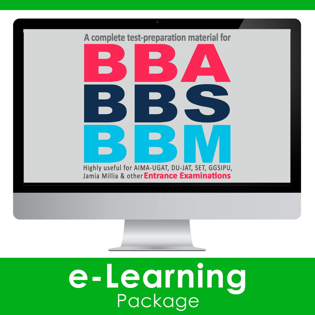 BBA/BBS/BBM Exam Guide 2020 [e-Learning Package]