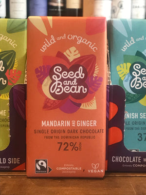 Seed & Bean Extra Dark Chocolate with Mandarin & Ginger