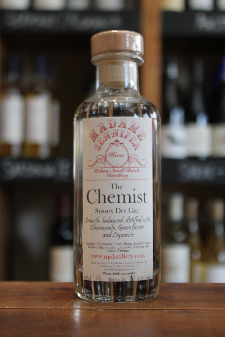 Madame Jennifer - The Chemist Sussex Dry Gin 20cl