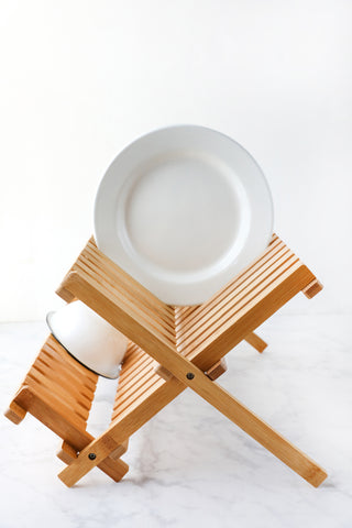 Bamboo Dish Rack | Natural Drying Rack
