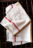 Red ticking napkin set of 4