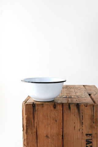 White Enamel Cereal Bowl