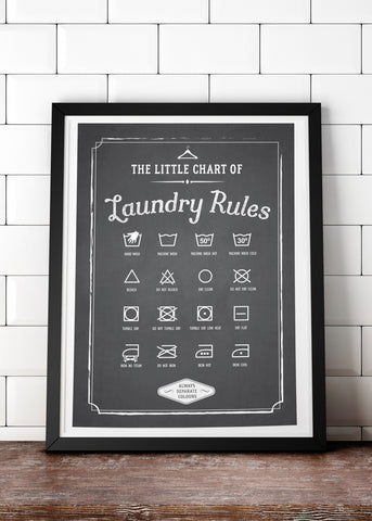 Laundry Rules Printed Poster