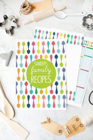 Printable Kitchen and Recipe Organiser Mega Bundle