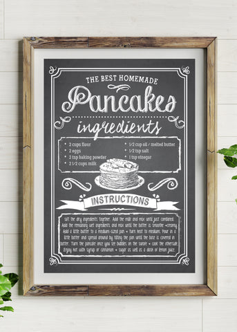 Banana Bread Recipe Printed Poster