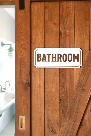 Home Bathroom Sign Country Charm