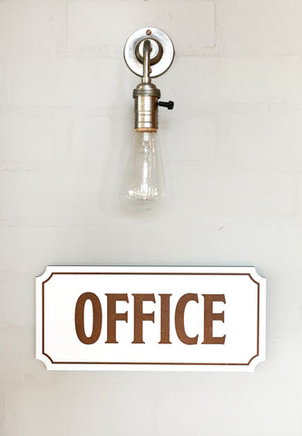 Home Office Sign Rustic Cozy Charm