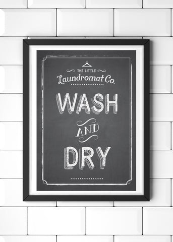 Wash & Dry Printed Laundry Poster