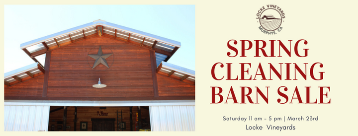 Spring Cleaning Barn Sale (3/23/19)