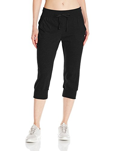 Champion Women's Jersey Banded Knee Pant - Best for Yoga and everyday activities - Everyday Crosstrain
