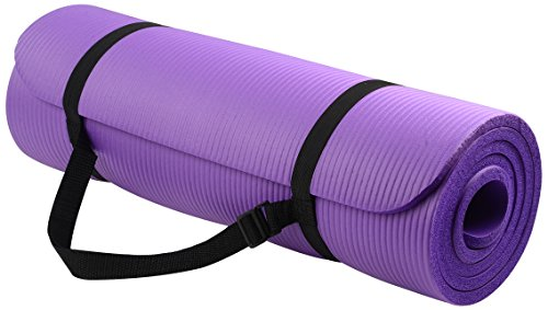 All-Purpose Extra Thick High Density Anti-Tear Yoga Mat with Carrying Strap - Everyday Crosstrain