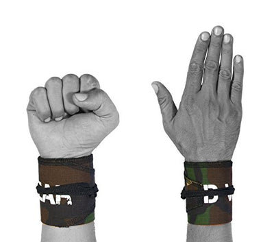 Strength Wraps for Powerlifting, Cross Training and Yoga - Best Wrist Support - Everyday Crosstrain