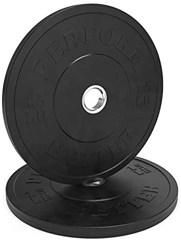 Solid Black Rubber Bumper Plates - Sold in Pairs
