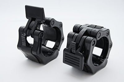 "Pair of 2"" Olympic Size Barbell Clamp. Quick Release Locking for Weightlifting - Everyday Crosstrain"