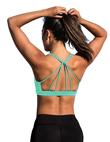 Padded Strappy Sports Bra Yoga Tops Stylish Activewear Workout Clothes for Women - Everyday Crosstrain