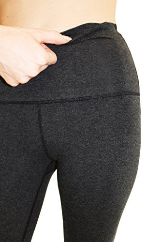 High Waist Cotton Power Flex Yoga Pants Workout Running Leggings  Tummy Control - Everyday Crosstrain