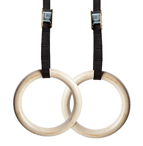 Wood Gymnastic Rings. Olympic Strength Training Gym Rings Wooden for Crossfit - Everyday Crosstrain