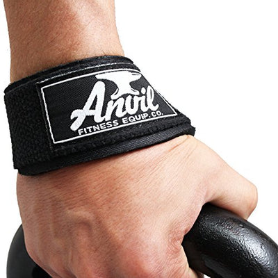 Neoprene Padded Weightlifting Wrist Straps. Instantly Lift More and Build Muscle - Everyday Crosstrain