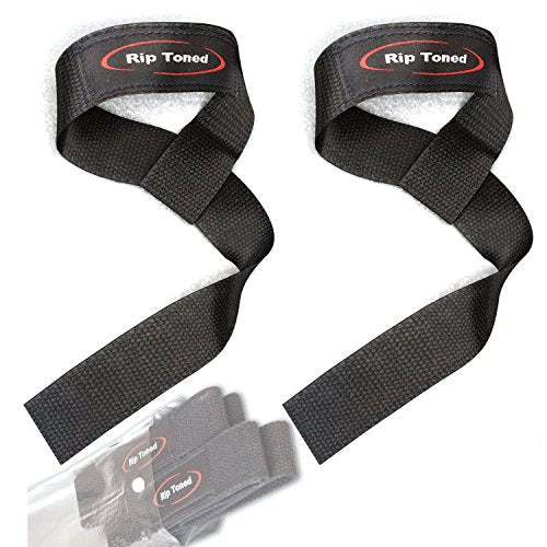 Lifting Wrist Straps (Pair) - Cotton - Neoprene Padded - Perfect For Crossfit - Everyday Crosstrain