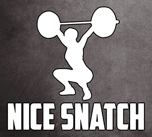 Weightlifting Snatch or Overhead Squat Window Sticker - Show your Skill Sticker! - Everyday Crosstrain