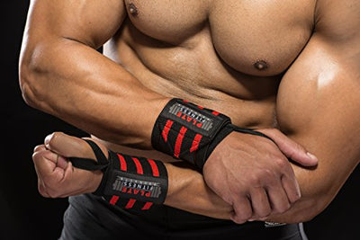 Wrist Wraps - 18'' Premium Quality from Superior Materials. Perfect for Crossfit - Everyday Crosstrain