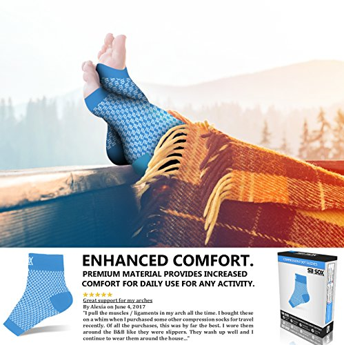 Compression Foot Sleeves for Men & Women - Best Treatment Socks Everyday Use
