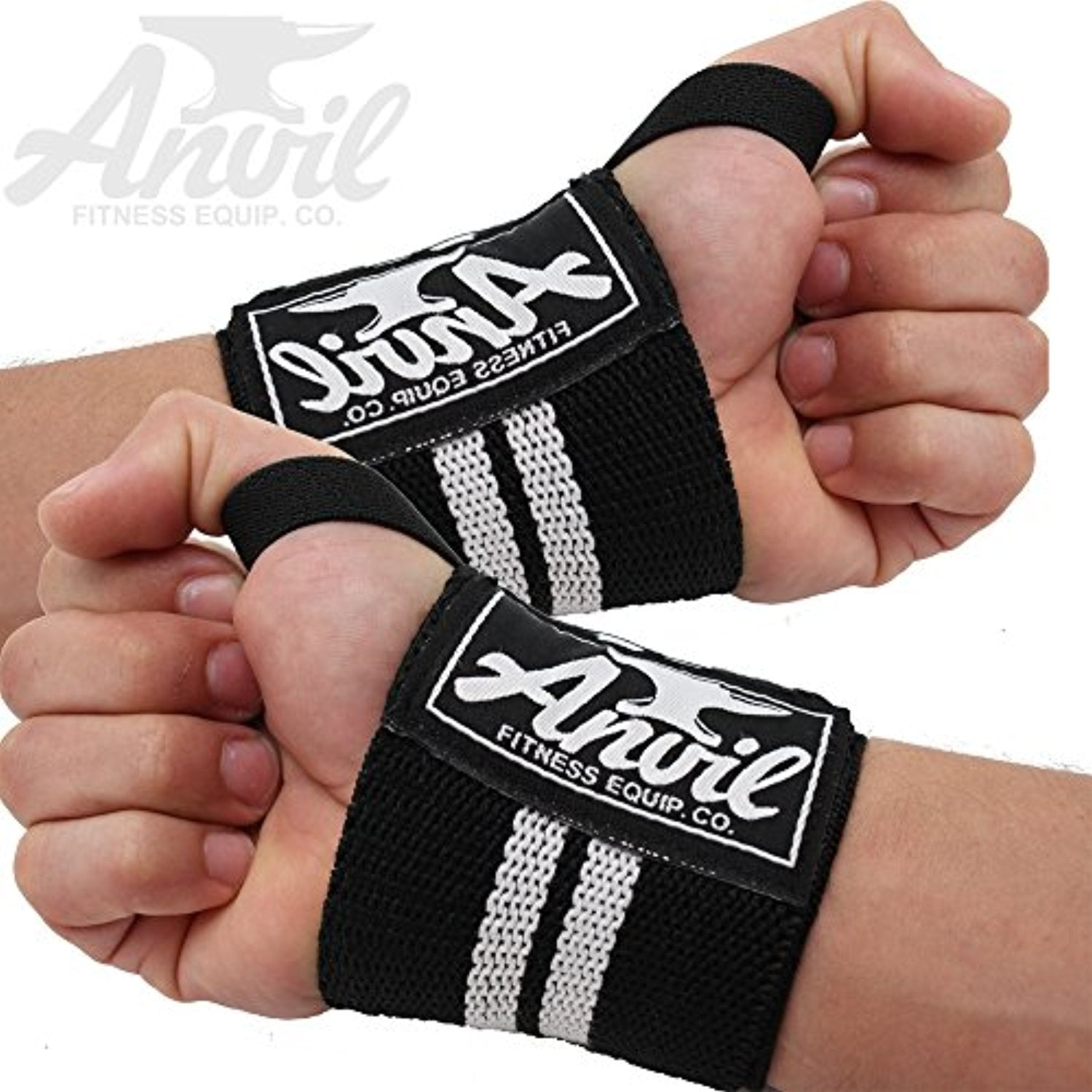 Weightlifting Wrist Wraps - High quality Pair of Adjustable Elastic Wrist Wraps - Everyday Crosstrain