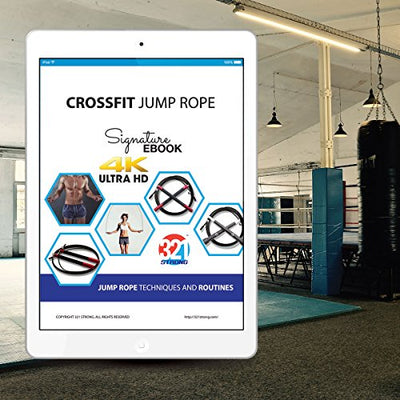Jump Rope - Great Cardio Workout for Men, Women, and Kids. Bonus carrying bag - Everyday Crosstrain