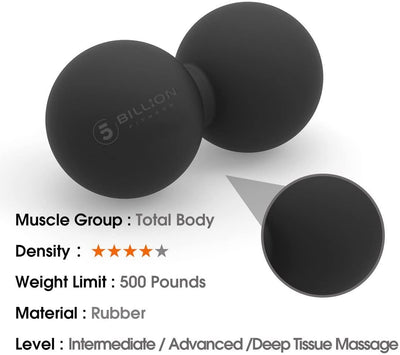 5BILLION Peanut Massage Ball - Double Lacrosse & Mobility Ball...